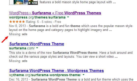 surfarama wordpress theme ads   Google Search